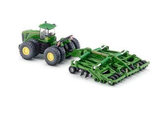 SIKU Farmer - Traktor John Deere 9630 s bránami Amazone Cen