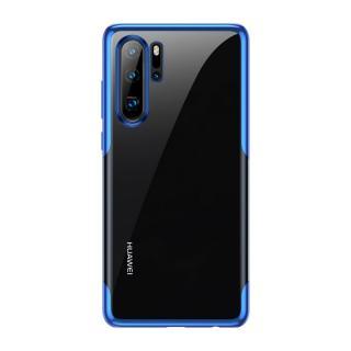Silikonové pouzdro Baseus Shining Case pro Huawei P30 Pro, modrá