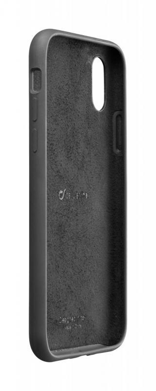 Silikonové pouzdro CellularLine SENSATION pro Apple iPhone XR, černá