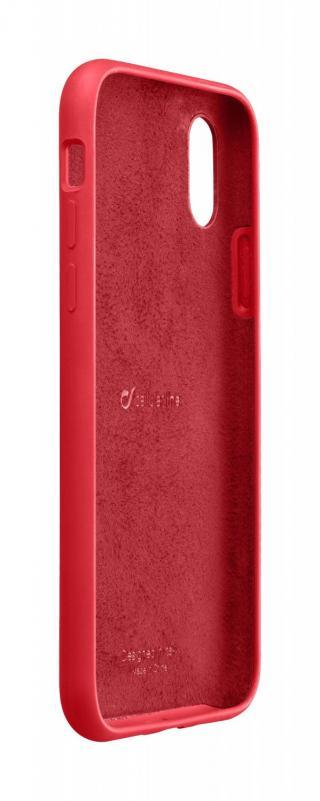 Silikonové pouzdro CellularLine SENSATION pro Apple iPhone XS Max, červená