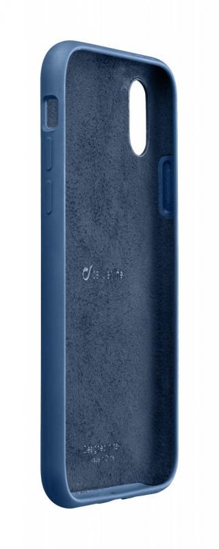 Silikonové pouzdro CellularLine SENSATION pro Apple iPhone XS Max, modrá