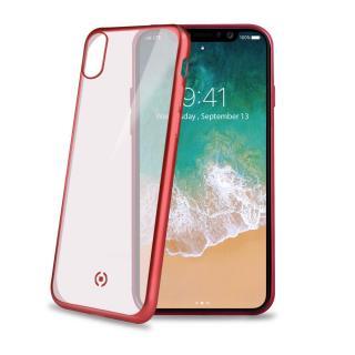 Silikonové pouzdro CELLY Laser pro Apple iPhone X, červené