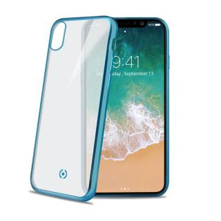 Silikonové pouzdro CELLY Laser pro Apple iPhone X, světle modré