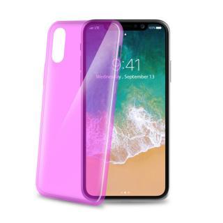 Silikonové pouzdro CELLY Ultrathin pro Apple iPhone X, růžové