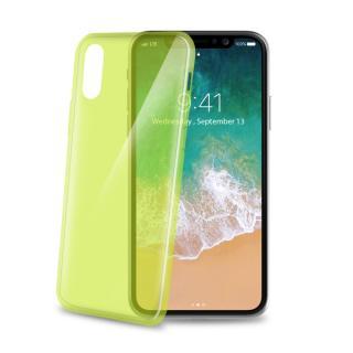 Silikonové pouzdro CELLY Ultrathin pro Apple iPhone X, sv. zelené