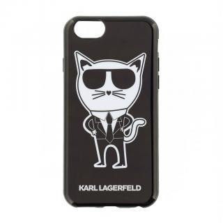 Silikonové pouzdro Karl Lagerfeld K-Team pro Apple iPhone 6/6S, black