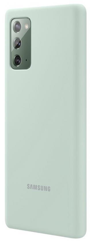 Silikonové pouzdro Silicone Cover EF-PN980TM pro Samsung Galaxy Note20, máta