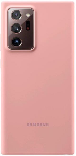 Silikonové pouzdro Silicone Cover EF-PN985TAEGEU pro Samsung Galaxy Note20 Ultra, hnědá