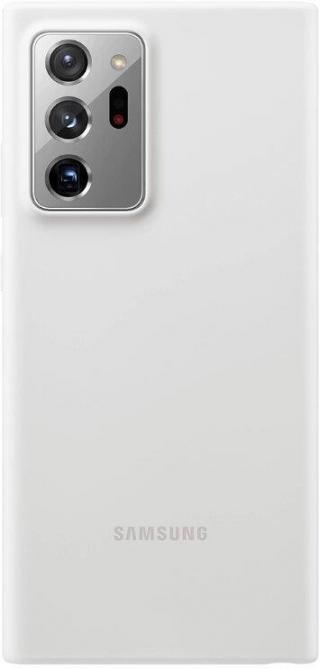 Silikonové pouzdro Silicone Cover EF-PN985TWEGEU pro Samsung Galaxy Note20 Ultra, stříbrná