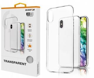 Silikonové pouzdro TRANSPARENT ALIGATOR pro Apple iPhone 12/12 Pro