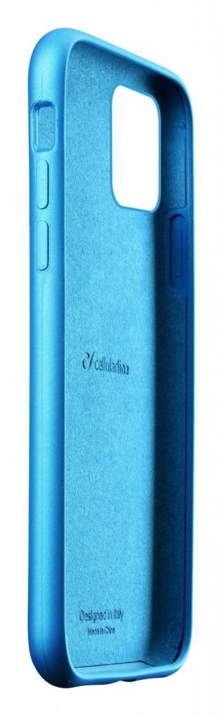 Silikonový kryt Cellularline Sensation Metallic pro Apple iPhone 11 Pro Max, tyrkysová