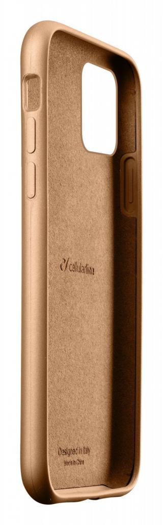 Silikonový kryt Cellularline Sensation Metallic pro Apple iPhone 11 Pro Max, zlatá