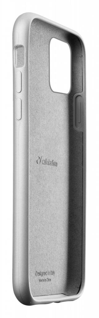 Silikonový kryt Cellularline Sensation Metallic pro Apple iPhone 11, stříbrná