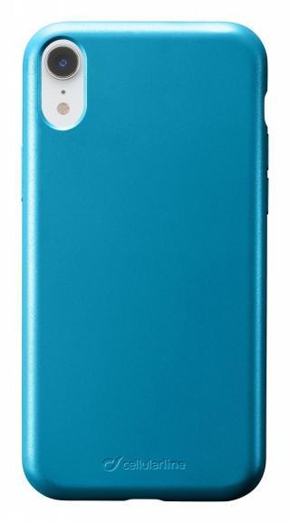 Silikonový kryt Cellularline Sensation Metallic pro Apple iPhone XR, tyrkysová