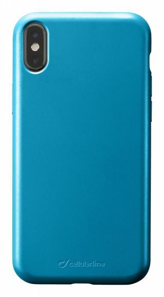 Silikonový kryt Cellularline Sensation Metallic pro Apple iPhone X/XS, tyrkysová