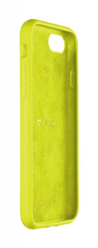 Silikonový kryt Cellularline SENSATION pro Apple iPhone 8/7/6, limetkový neon