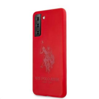 Silikonový kryt USHCS21LSLHRTRE U.S. Polo Double Horse pro Samsung Galaxy S21 , red