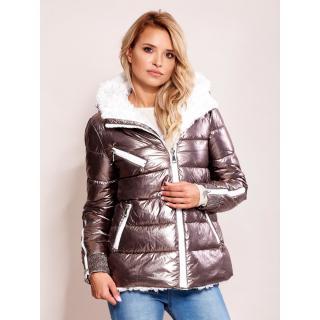 Silver metallic winter jacket dámské Neurčeno XL