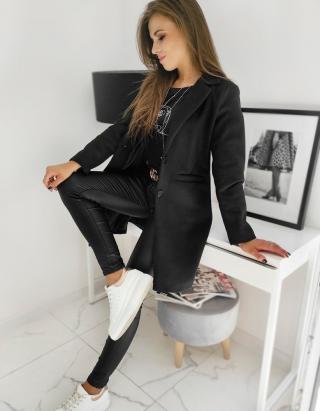 Single-breasted womens coat DRESNO black NY0385 dámské Neurčeno L