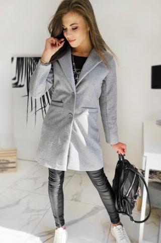 Single-breasted womens coat DRESNO gray NY0382 dámské Neurčeno M