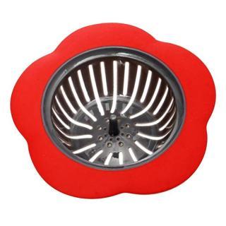 Sítko do dřezu ve tvaru květiny C423 Barva: červená