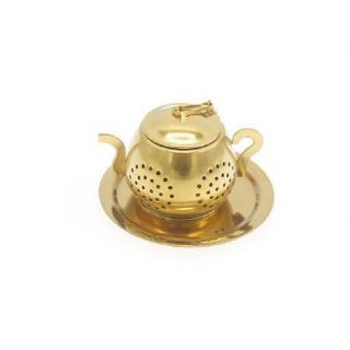 Sítko na čaj čajítko konvička Barva: zlatá
