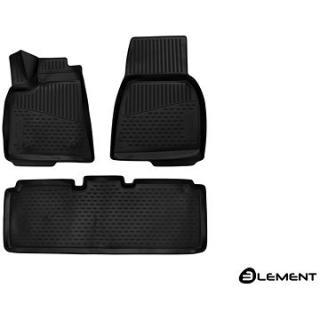 SIXTOL 3D Gumové koberce TESLA Model S, 2012->, Evropa, 3ks
