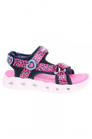 Skechers S Lights - Heart Lights Sandals - Sawy Cat hot pink-blue 27