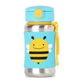 SKIP HOP Nerezová termoska Zoo včela modrá