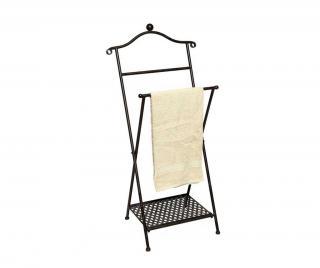 Skládací stojan na ručníky Barir Černá