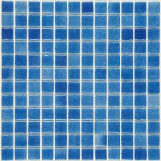 Skleněná mozaika Mosavit Brumas 30x30 cm lesk BR2004ANTISLIP modrá