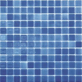 Skleněná mozaika Mosavit Brumas 30x30 cm lesk BR2005ANTISLIP modrá