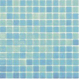 Skleněná mozaika Mosavit Brumas 30x30 cm lesk BR2007ANTISLIP modrá