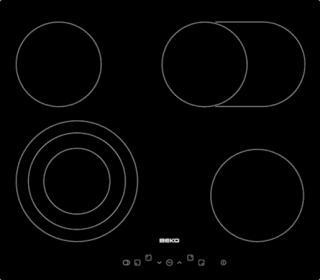 Sklokeramická varná deska Beko černá HIC64404T černá černá