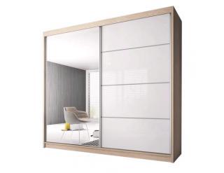 Skříň s posuvnými dveřmi Tiler 3 v dekoru dub sonoma bílá