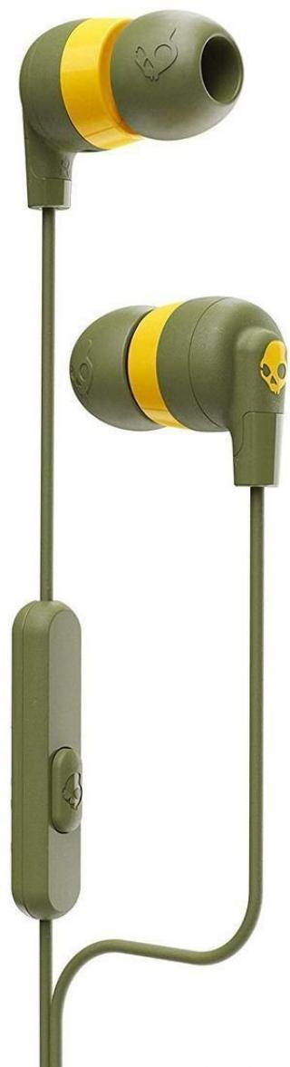 Skullcandy INK´D   Earbuds with Microphone Moss/Olive/Yellow Green