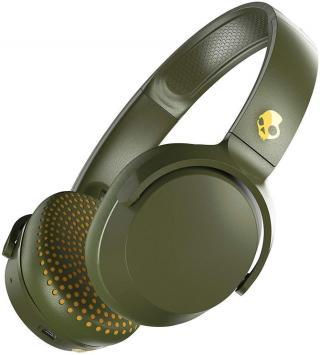Skullcandy Riff On-Ear Headphone Moss/Olive/Yellow Green