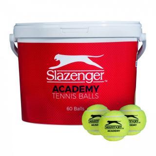 Slazenger Academy 60 Ball Bucket Yellow | Other One size