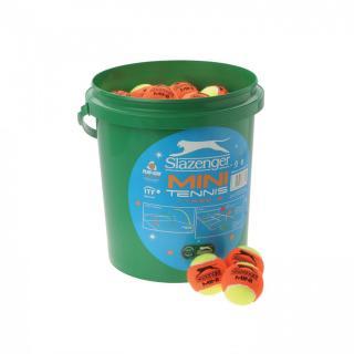 Slazenger Mini Tennis Orange Balls 5 Dozen Bucket Orange | Other One size