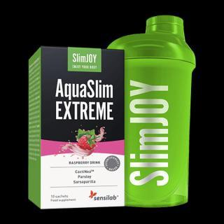 SlimJOY AquaSlim EXTREME   SHAKER zdarma   Silnější receptura   Efektivní hubnutí a odvodnění organismu   Na 10 dní   Sensilab