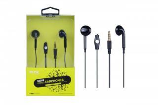 Sluchátka do uší PLUS, s mikrofonem, , černá