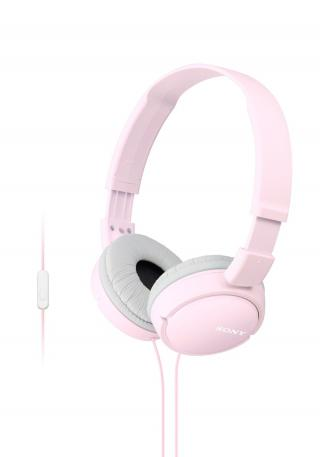 Sluchátka SONY MDR-ZX110AP handsfree růžové