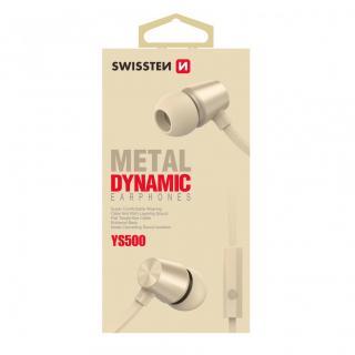 Sluchátka Swissten Earbuds Dynamic YS500, zlatá