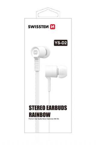 SLUCHÁTKA SWISSTEN EARBUDS RAINBOW YS-D2 white