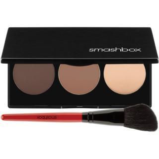 Smashbox Step By Step Contour Kit konturovací paletka se štětečkem odstín Light/Medium 11,47 g dámské 11,47 g