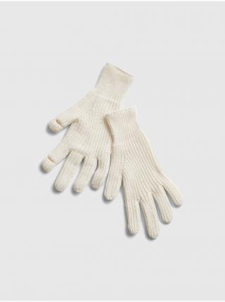 Smetanové dámské rukavice GAP dámské krémová ONE SIZE
