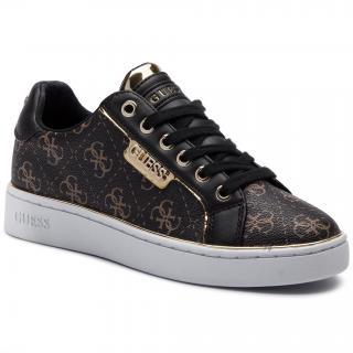 Sneakersy GUESS - Banq FL7BAN FAL12 BROWN/BLACK dámské Hnědá 41