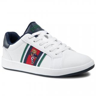Sneakersy POLO RALPH LAUREN - Oaklynn II Bear RF102541 White/Red/Nvy/Grn dámské Bílá 41