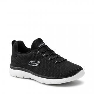 Sneakersy SKECHERS - Bright Bezel 149204/BKSL Black/Silver dámské Černá 40