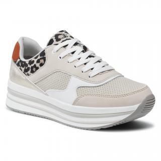 Sneakersy S.OLIVER - 5-23628-26 Beige Leo Comb 317 dámské Béžová 37